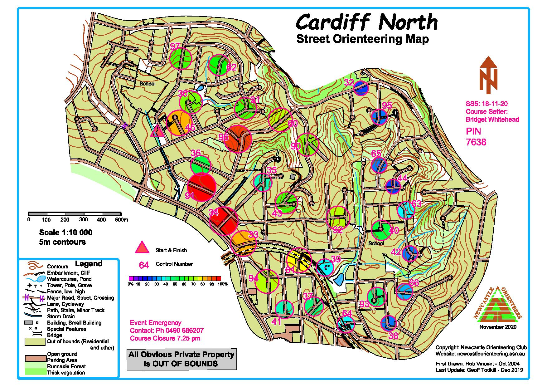 Cardiff North 2020 21 Heat Map